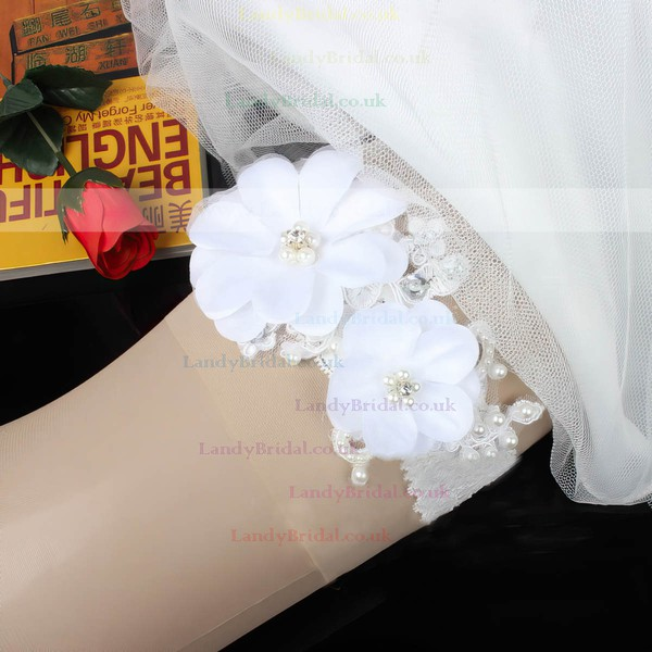 Lace Garters with Rhinestone/Flower/Pearl