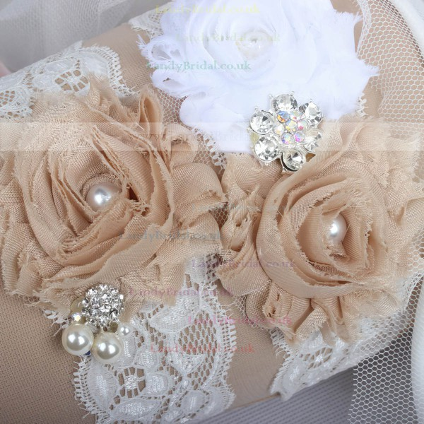 Lace Garters with Rhinestone/Imitation Pearls/Flower/Crystal