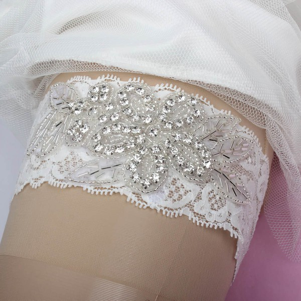 Lace Garters with Beading/Crystal #LDB03090009
