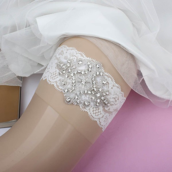 Lace Garters with Beading/Crystal