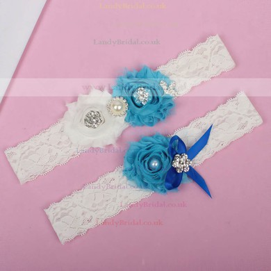 Lace Garters with Rhinestone/Bowknot/Imitation Pearls/Flower #LDB03090011