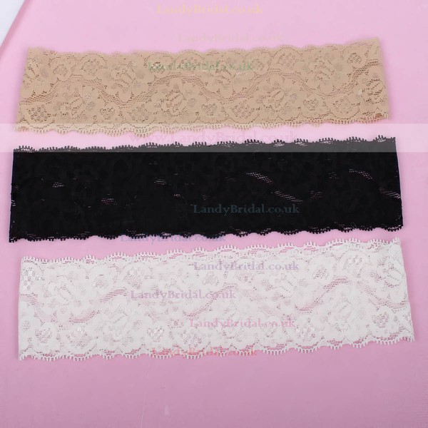 Lace Garters with Pearl/Crystal