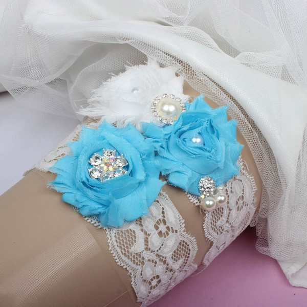 Lace Garters with Rhinestone/Imitation Pearls/Flower
