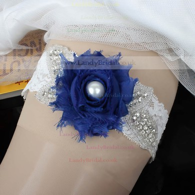 Lace Garters with Imitation Pearls/Flower/Crystal #LDB03090023