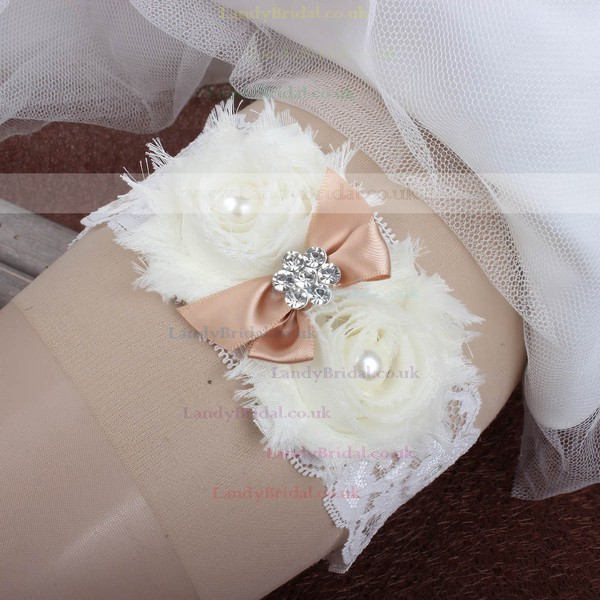 Lace Garters with Bowknot/Imitation Pearls/Flower/Crystal