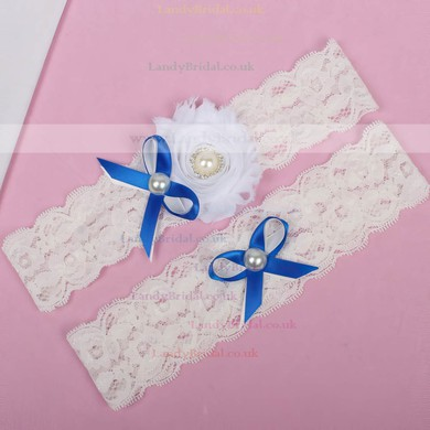 Lace Garters with Bowknot/Imitation Pearls/Flower #LDB03090032