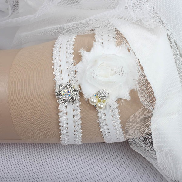 Elastics Garters with Lace/Flower/Pearl/Crystal #LDB03090033