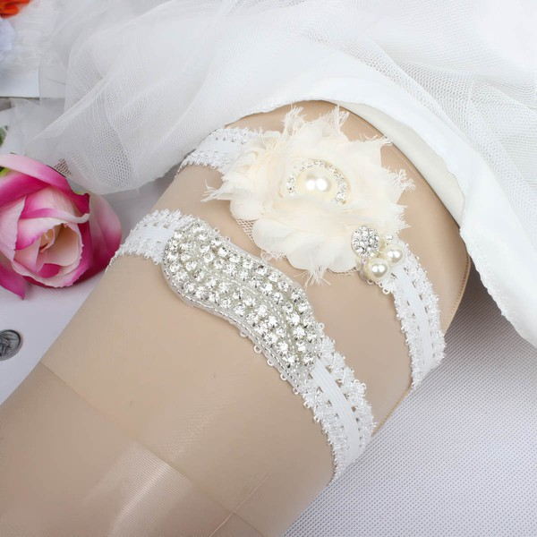 Elastics Garters with Lace/Flower/Pearl/Crystal #LDB03090039