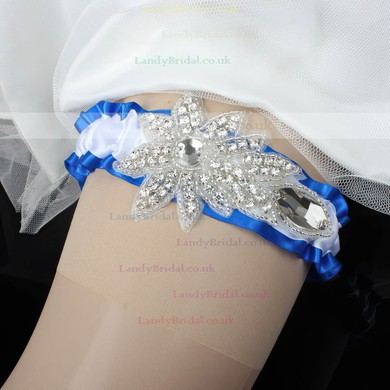 Satin Garters with Rhinestone/Crystal #LDB03090041