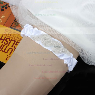 Polyester Garters with Beading/Crystal #LDB03090049
