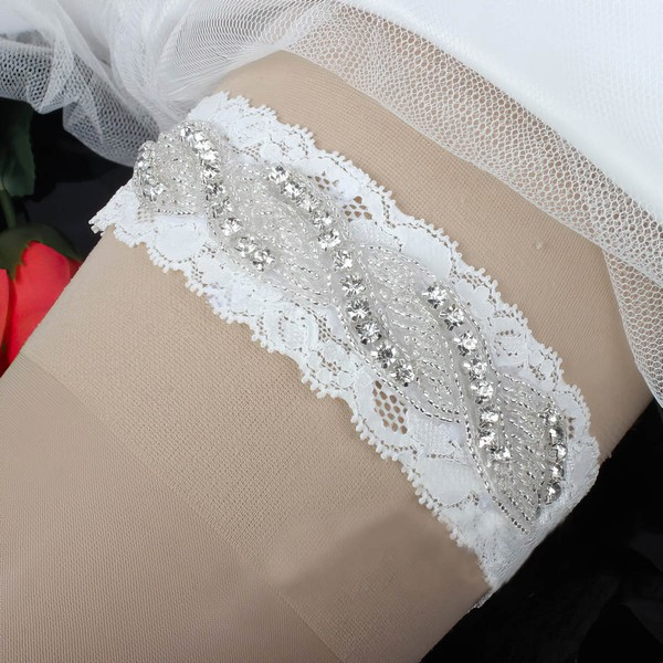 Lace Garters with Beading/Crystal #LDB03090051