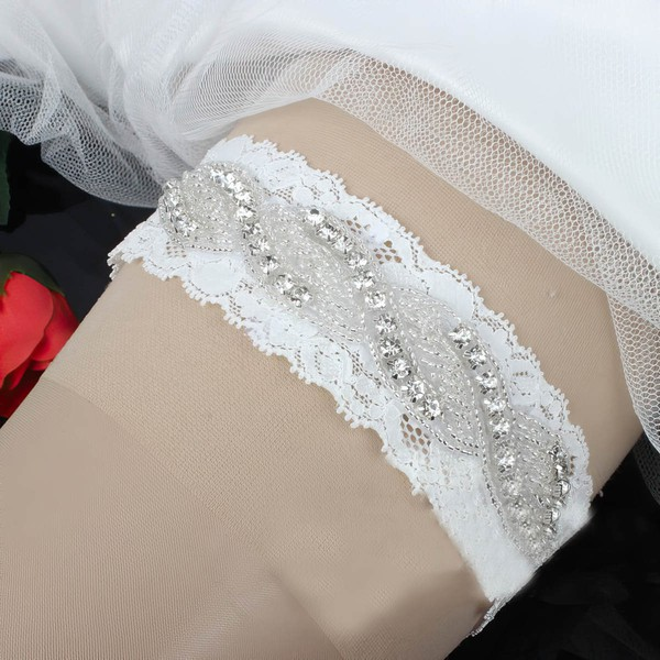 Lace Garters with Beading/Crystal #LDB03090052