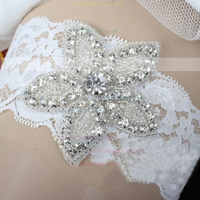 Lace Garters with Beading/Crystal #LDB03090054