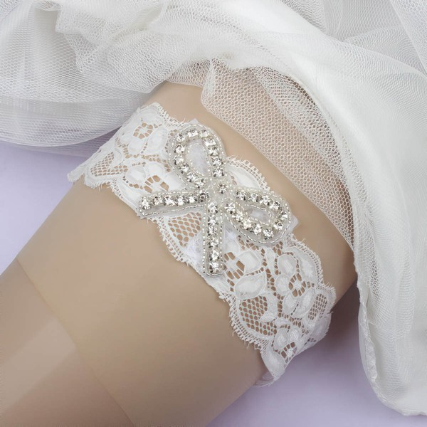 Lace Garters with Beading/Crystal #LDB03090056