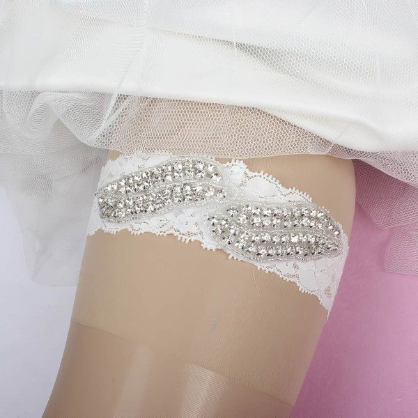 Lace Garters with Beading/Crystal #LDB03090057