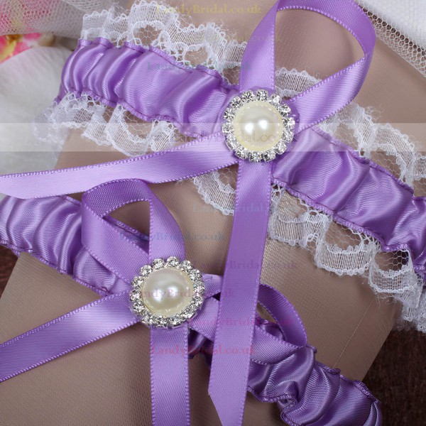 Ribbons Garters with Bowknot/Imitation Pearls/Crystal