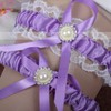 Ribbons Garters with Bowknot/Imitation Pearls/Crystal #LDB03090058