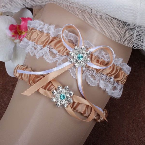 Satin Garters with Bowknot/Crystal #LDB03090062
