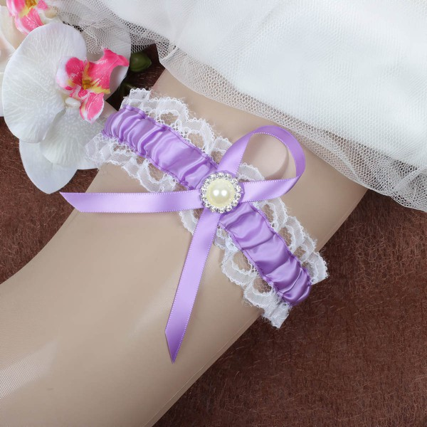 Satin Garters with Pearl/Crystal #LDB03090076