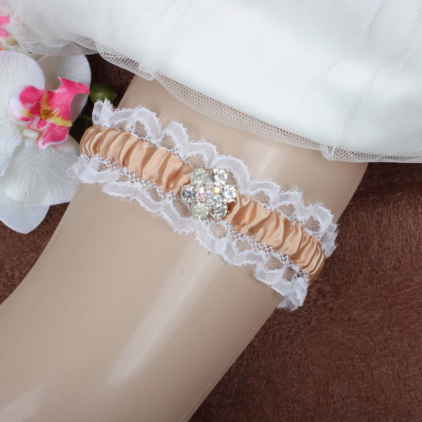 Satin Garters with Crystal