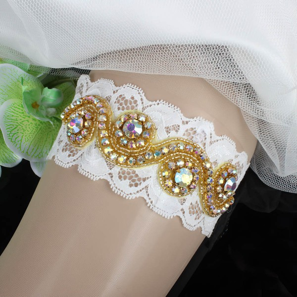 Lace Garters with Beading/Crystal #LDB03090081