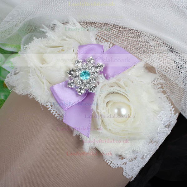 Lace Garters with Bowknot/Flower/Pearl/Crystal