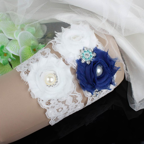 Lace Garters with Flower/Pearl/Crystal
