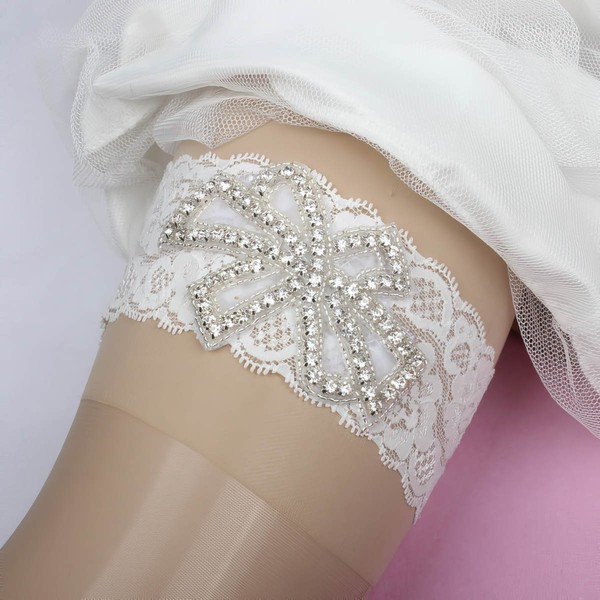Lace Garters with Beading/Crystal #LDB03090095