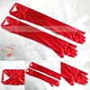 White Elastic Satin Opera Length Gloves #LDB03120030