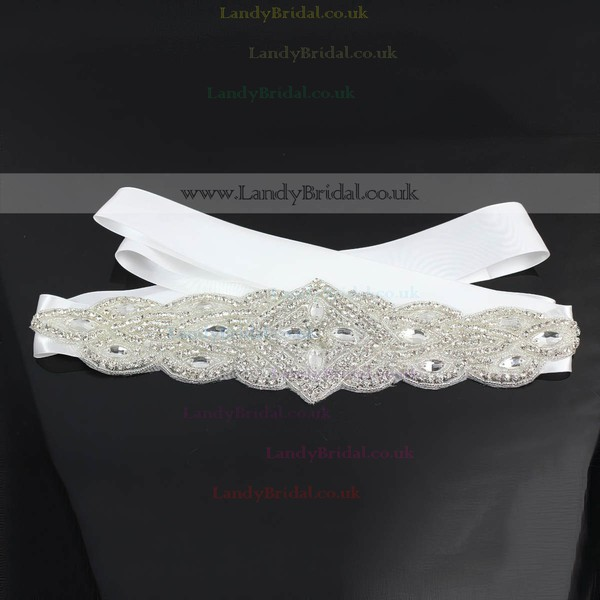 Women Charmeuse Beading/Crystal Sashes