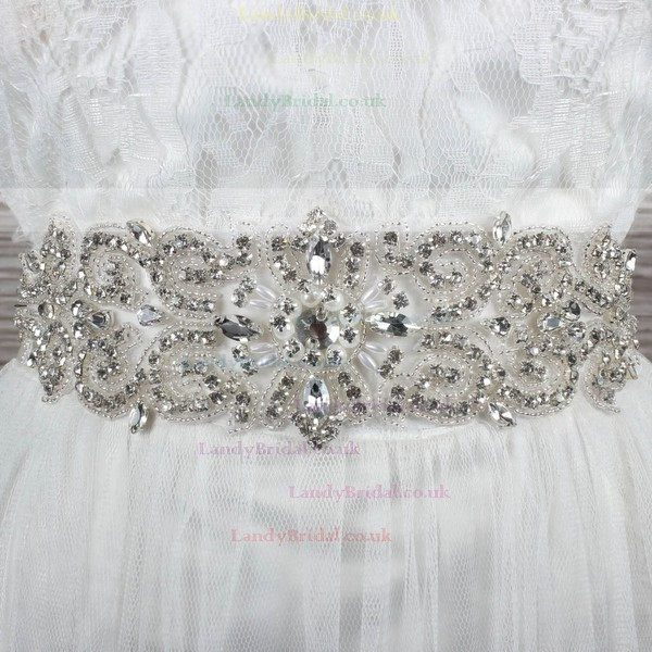 Women Satin Beading/Imitation Pearls/Crystal Sashes