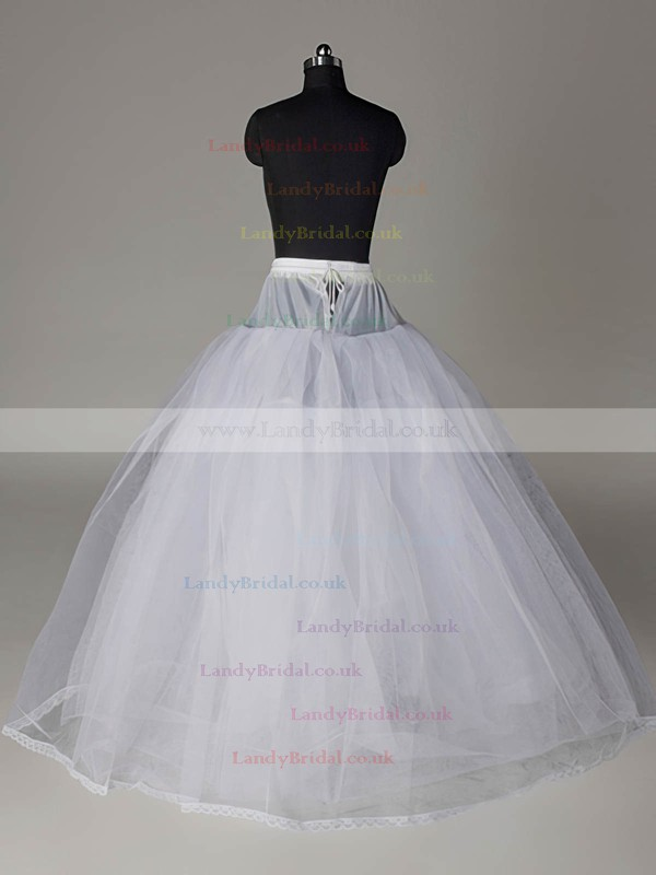 Nylon Ball Gown Full Gown 4 Tier Floor-length Slip Style/Wedding Petticoats #LDB03130001