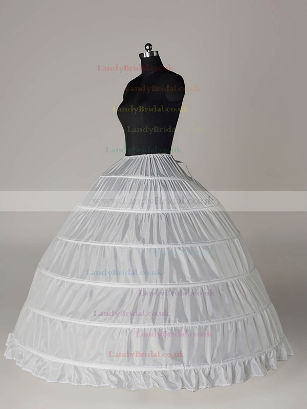 Nylon Ball Gown Full Gown 1 Tier Floor-length Slip Style/Wedding Petticoats