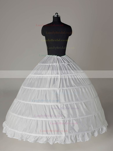 Nylon Ball Gown Full Gown 1 Tier Floor-length Slip Style/Wedding Petticoats #LDB03130002