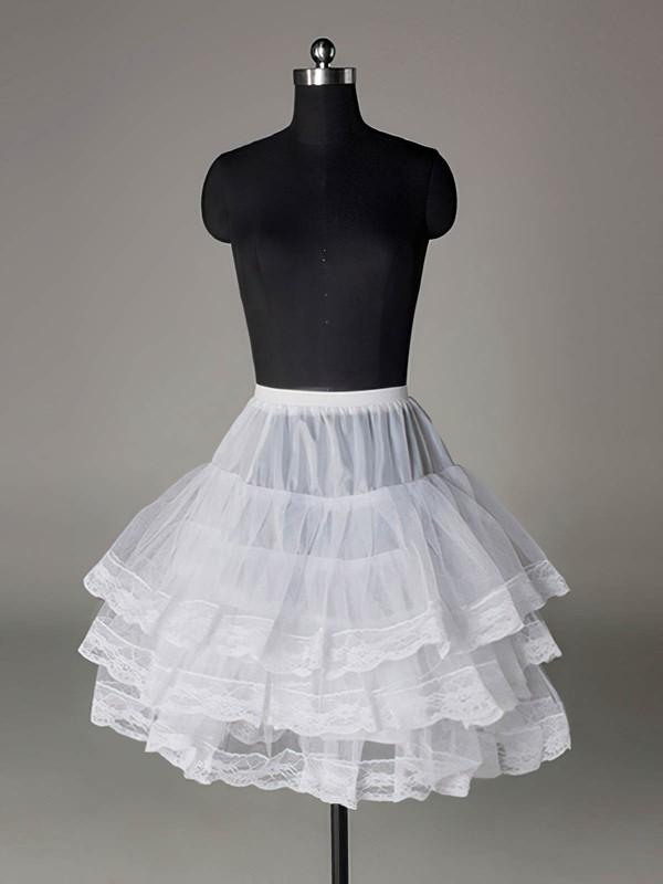 Nylon Half A-Line 3 Tier Short-Length Slip Style/Wedding Petticoats