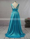 Princess V-neck Satin Floor-length Beading Prom Dresses #LDB02018723