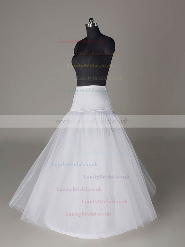 Polyester A-Line Full Gown 2 Tier Floor-length Slip Style/Wedding Petticoats #LDB03130004