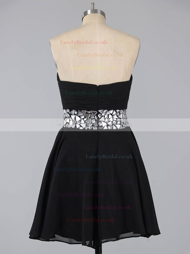 Red Sweetheart Chiffon Short/Mini Crystal Detailing Cute Prom Dress #LDB02041948