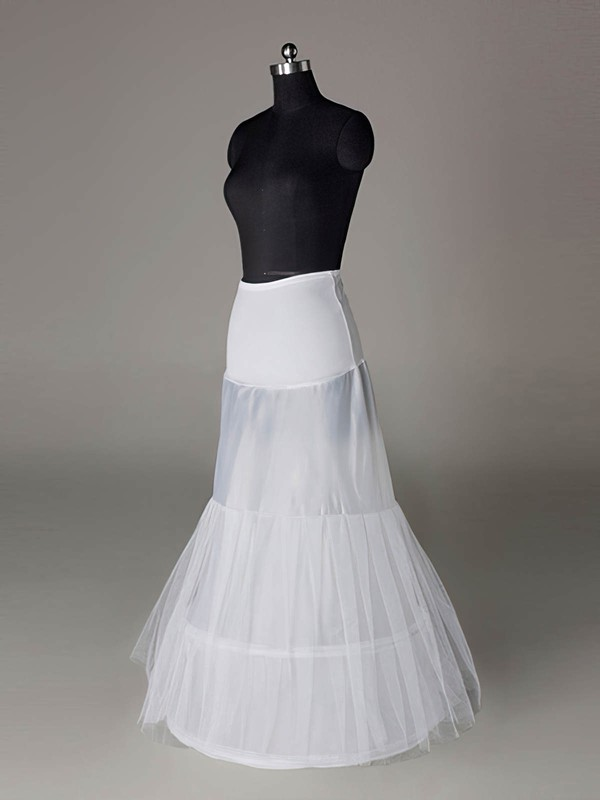 Tulle Netting/Polyester A-Line Full Gown 2 Tier Floor-length Slip Style/Wedding Petticoats