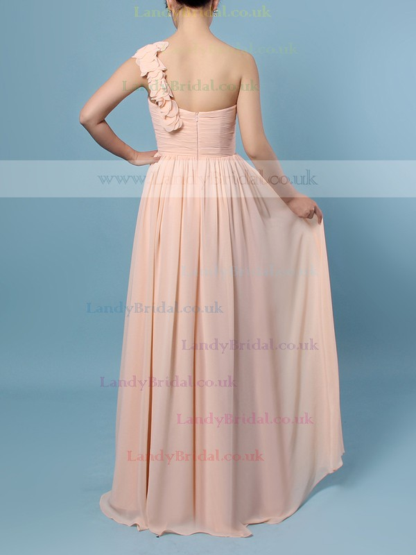 Chiffon One Shoulder A-line Floor-length Ruffles Bridesmaid Dresses #LDB01013480