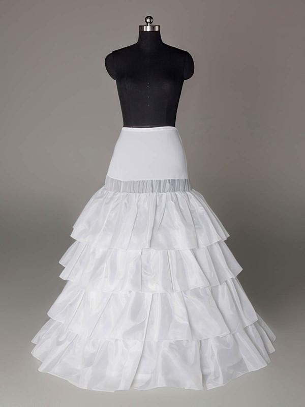 Taffeta A-Line Full Gown 4 Tier Floor-length Slip Style/Wedding Petticoats #LDB03130007