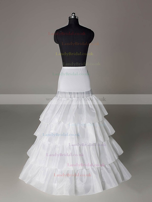 Taffeta A-Line Full Gown 4 Tier Floor-length Slip Style/Wedding Petticoats #LDB03130007