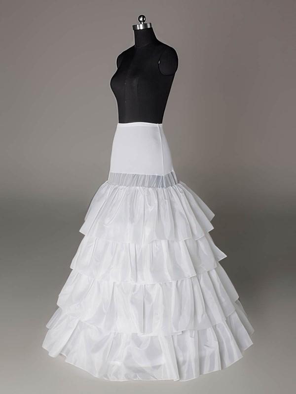 Taffeta A-Line Full Gown 4 Tier Floor-length Slip Style/Wedding Petticoats