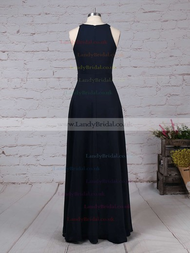A-line Scoop Neck Chiffon Floor-length Sashes / Ribbons Bridesmaid Dresses #LDB01013472