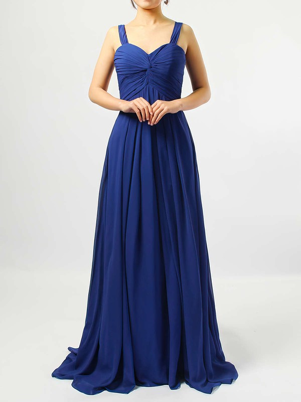 Empire Sweetheart Chiffon Floor-length Criss Cross Bridesmaid Dresses #LDB01013545