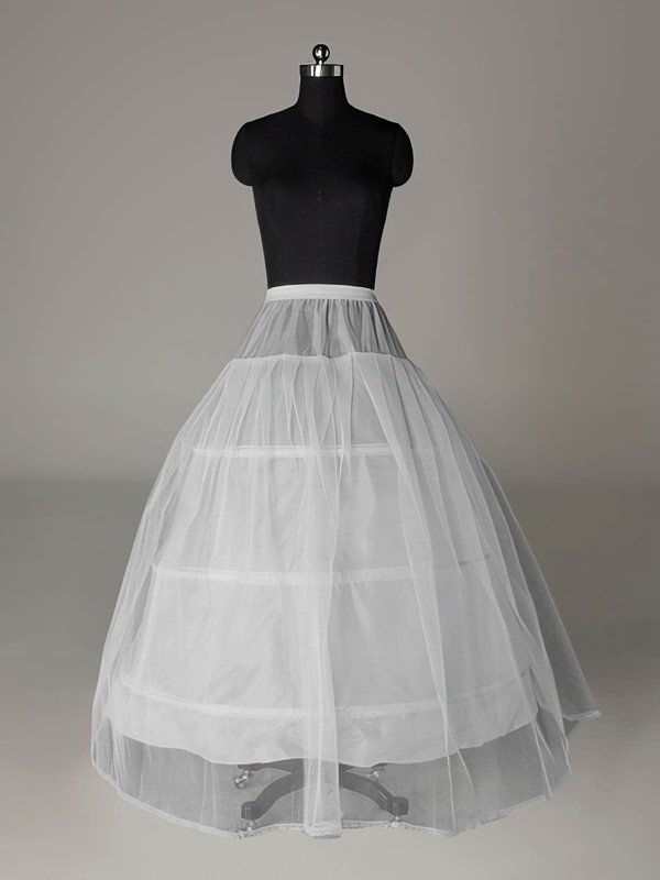 Tulle Netting A-Line Full Gown Floor-length Slip Style/Wedding Petticoats #LDB03130010