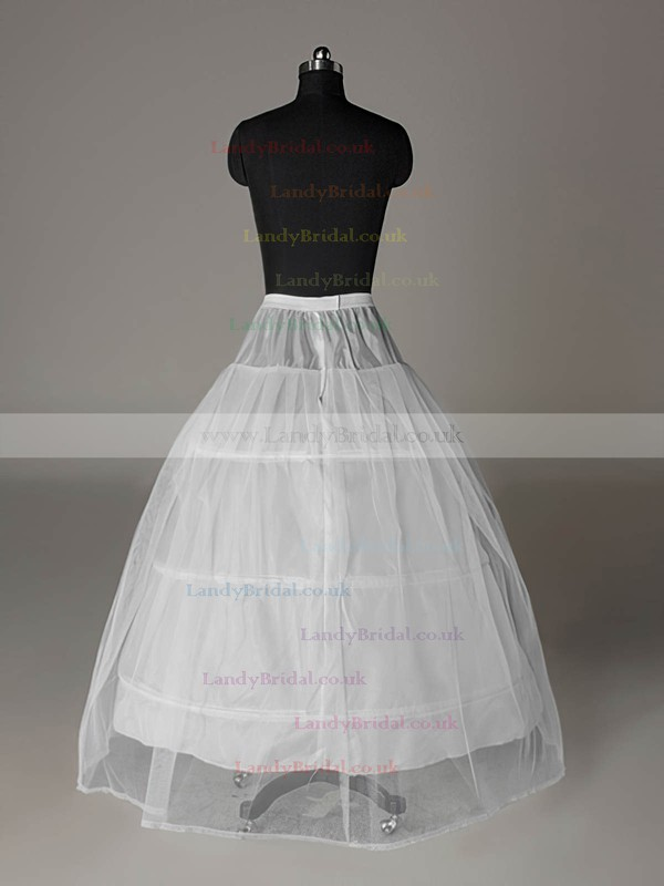 Tulle Netting A-Line Full Gown Floor-length Slip Style/Wedding Petticoats #LDB03130010