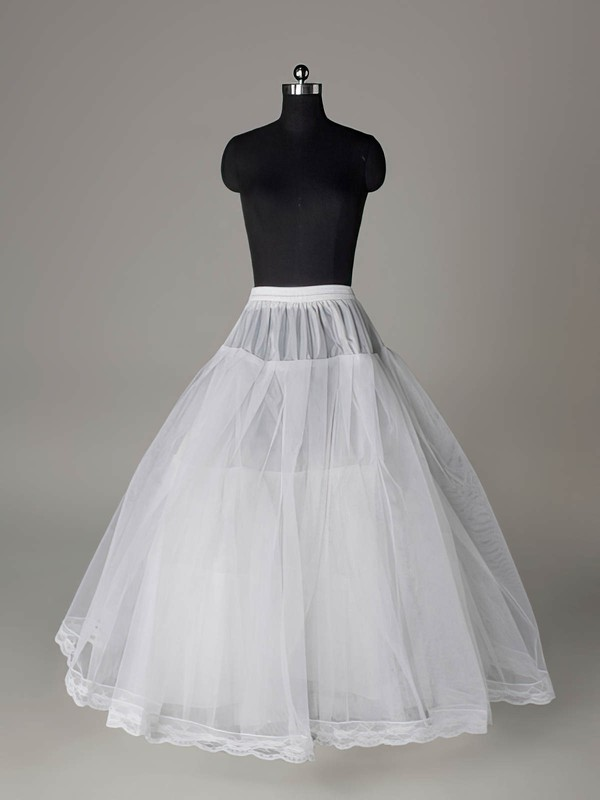 Nylon Ball Gown Full Gown 3 Tier Floor-length Slip Style/Wedding Petticoats