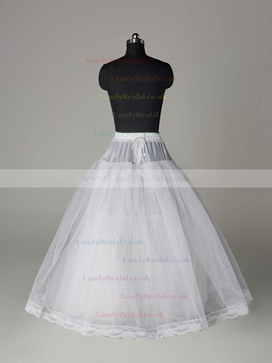 Nylon Ball Gown Full Gown 3 Tier Floor-length Slip Style/Wedding Petticoats #LDB03130012