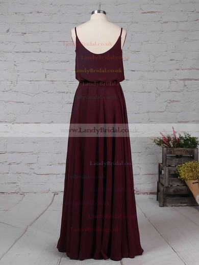 Chiffon Square Neckline A-line Floor-length Split Front Bridesmaid Dresses #LDB01013578